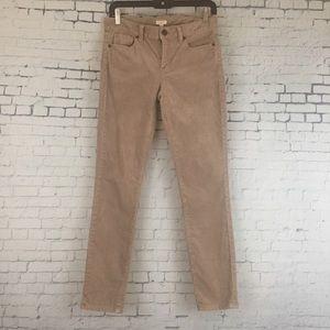 J Crew Pants Skinny Ankle Cords Tan Sz 25